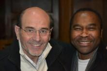 Jean-Claude Gianadda et l'abbé Pierre Paglan